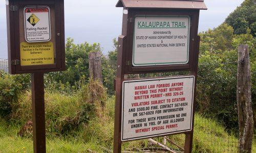 Entry to Kalaupapa Trail
