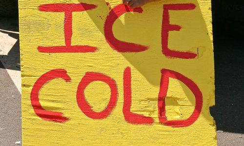 Ice cold coconuts