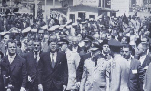JFK at Check Point Charlie